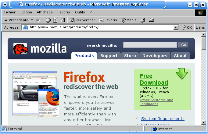 Get Firefox - Rediscover the web